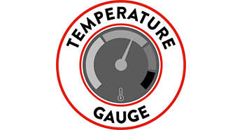 Carezza Deluxe - temperature gauge