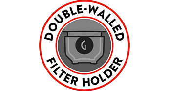 Carezza Deluxe - double walled filter holder